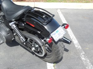 2013 & Newer Street Bob License Plate/Turn Signal Relocation Kit